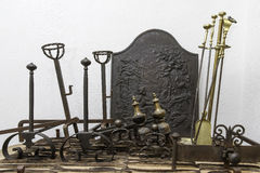 Fireplace Tools Stock Photography