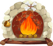 Fireplace vector Royalty Free Stock Photo