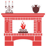 Fireplace. Vector illustration (EPS 10 Royalty Free Stock Photos