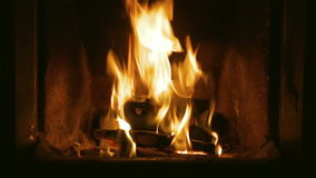 Fireplace Video stock video footage