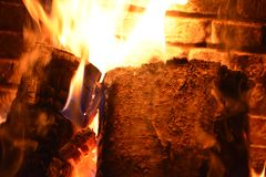 Fireplace. Warm and cosy Stock Photography