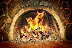 Fireplace. Warm Hearth. Taken closeup royalty free stock photo