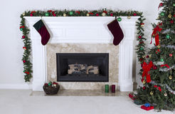 Fireplace warming up holidays Stock Photography