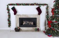 Fireplace warming up holidays Stock Photography