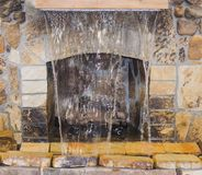 Fireplace with water fountain Royalty Free Stock Images