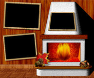 Fireplace for Winter time. A warm place for cold winter afternoons Stock Photography