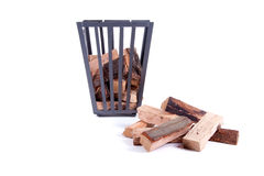 Fireplace wood Stock Photography