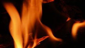 Fireplace, wood burning, close u Stock Photo