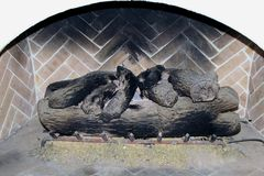 Fireplace wood Royalty Free Stock Photo