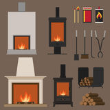 Fireplaces Royalty Free Stock Photography