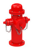 The fireplug. 3d generated picture of a red fireplug Stock Images