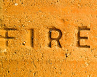 Fireproof brick Royalty Free Stock Photography