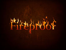 Fireproof on fire Stock Photos