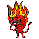 Firery demon cartoon Stock Photography