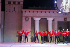 Fires of Anatolia. Performance in the amphitheater of Anatolia. Royalty Free Stock Images