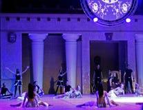 Fires of Anatolia. Performance in the amphitheater of Anatolia. Stock Photos
