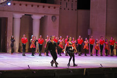 Fires of Anatolia. Performance in the amphitheater of Anatolia. Stock Photography