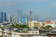 Fires in bangkok Royalty Free Stock Photography