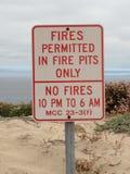 Fires on the Beach Stock Photo
