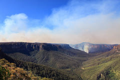 Fires in Blue Mountains Australia Royalty Free Stock Photo