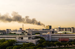 Fires in the city Stock Photography