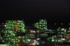 Fires in night. Kind of shone industrial targets in night Stock Photos
