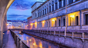 Fires and twilight of St. Petersburg Royalty Free Stock Images