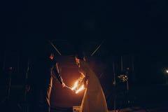 Fireshow Στοκ εικόνες με δικαίωμα ελεύθερης χρήσης