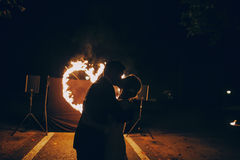 Fireshow in awedding Royalty Free Stock Photo