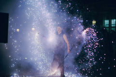 Fireshow in awedding Royalty Free Stock Photography