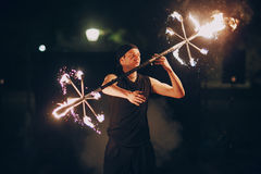 Fireshow in awedding Royalty Free Stock Photos