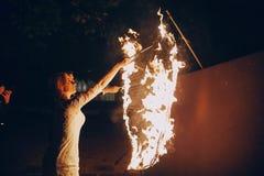 Fireshow dans awedding Photographie stock libre de droits