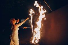 Fireshow dans awedding Images libres de droits