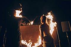 Fireshow dans awedding Photo libre de droits