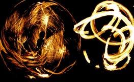 Fireshow, demostración del fuego Fotos de archivo libres de regalías