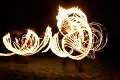 Fireshow en hierba Foto de archivo libre de regalías