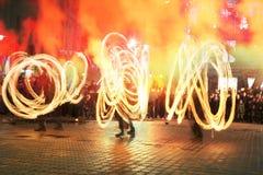 Fireshows para uma reunião da memória Fotografia de Stock