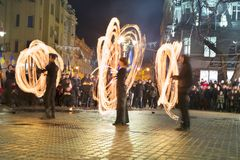 Fireshows para uma reunião da memória Imagem de Stock Royalty Free