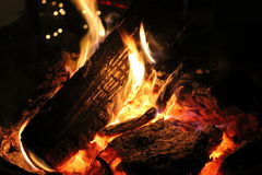 Warm Crackling Campfire Royalty Free Stock Photo