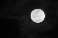 Firest Mini Moon completo 2014 Imagens de Stock Royalty Free