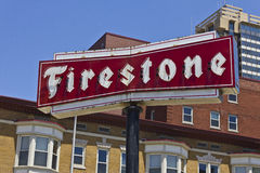 Firestone Complete Auto Care Location with Legacy Neon Sign I Royalty Free Stock Photo