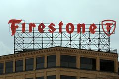 Firestone Sign Royalty Free Stock Photography