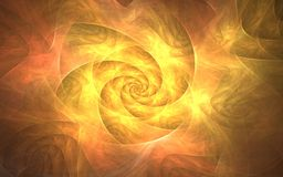 Firestorm. Flames in circle, this fractal render wants to evocate a hot burning fire Royalty Free Stock Image