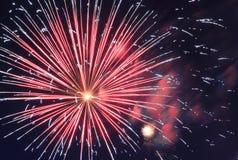 Firesworks à New York Photo libre de droits