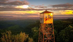Firetower Photo stock