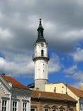 Firetower in Veszprem, Hungary stock photography
