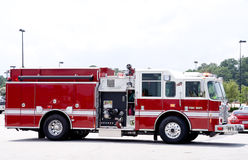 Firetruck. An emergency services vehicle better known as a firetruck Stock Photography