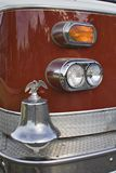 Firetruck. A close up of front quarter of a red Firetruck royalty free stock photo