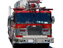 Firetruck. Emergency response vehicle or firetruck on white background Stock Photography