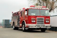 Firetruck. Front of firetruck with door open Stock Images